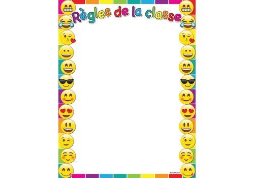 "ASHLEY PRODUCTIONS Regles de la classe Emoji Poly Chart 17"" x 22"""