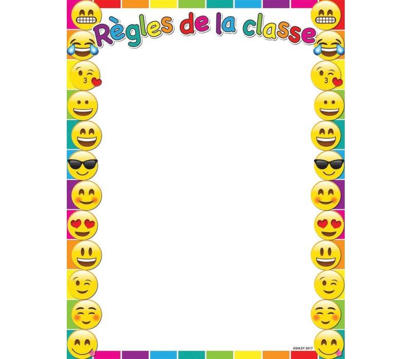 """Regles de la classe Emoji Poly Chart 17"""" x 22"""" *"""