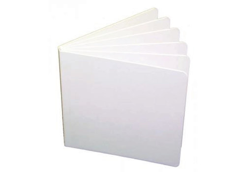 ASHLEY PRODUCTIONS WHITE HARDCOVER BLANK BOOK 5 X 5 *