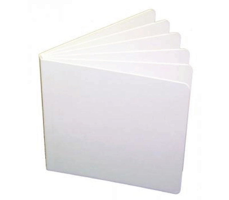 WHITE HARDCOVER BLANK BOOK 5 X 5 *