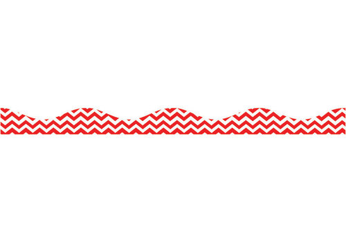 ASHLEY PRODUCTIONS Big  Magnetic Border, Red Chevron *