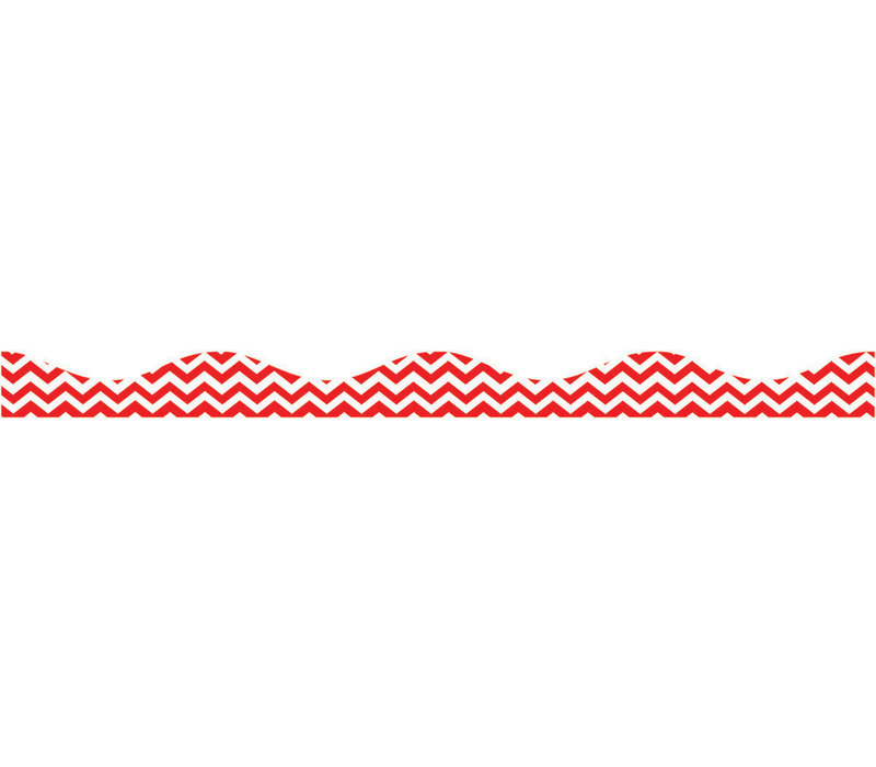 Big  Magnetic Border, Red Chevron *