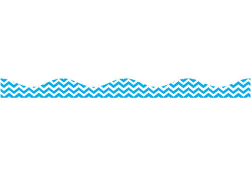 ASHLEY PRODUCTIONS Big  Magnetic Border, Blue Chevron