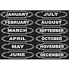 ASHLEY PRODUCTIONS Magnetic Months of the Year