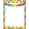 "ASHLEY PRODUCTIONS Bienvenue Emoji Poly Chart 17"" x 22"" *"
