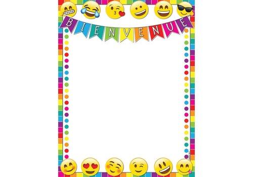 "ASHLEY PRODUCTIONS Bienvenue Emoji Poly Chart 17"" x 22"""