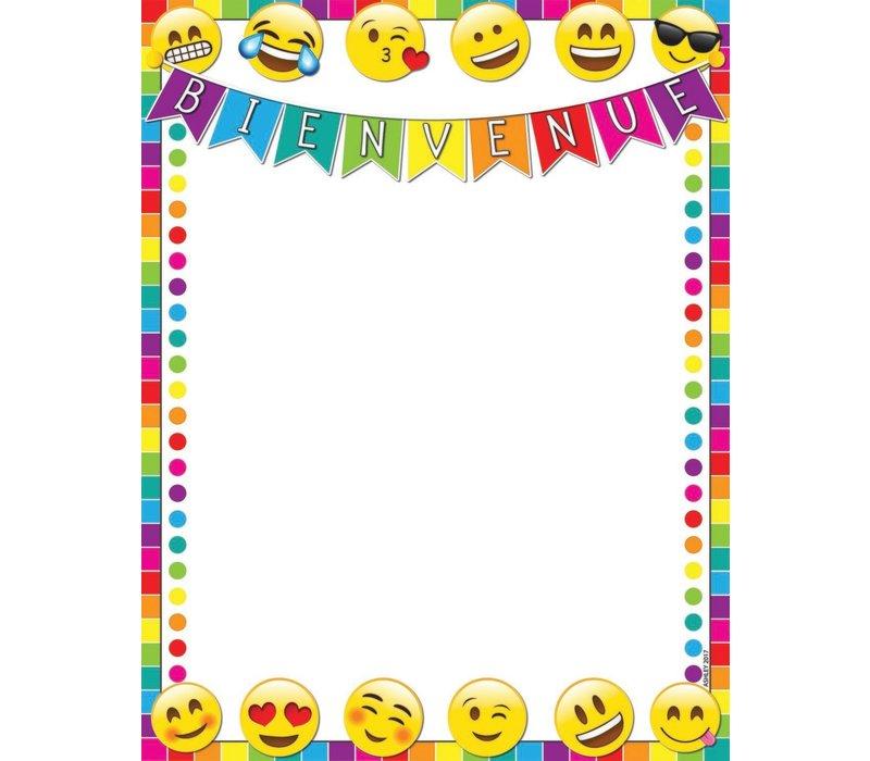 "Bienvenue Emoji Poly Chart 17"" x 22"" *"