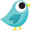 ASHLEY PRODUCTIONS Magnetic Whiteboard Eraser, Blue Tweet Bird