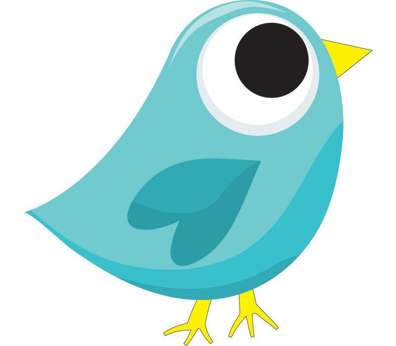 Magnetic Whiteboard Eraser, Blue Tweet Bird