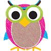 ASHLEY PRODUCTIONS Magnetic Whiteboard Eraser Owl Scribble Chalk Burlap *