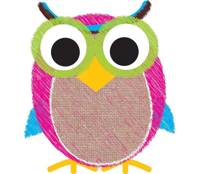 Magnetic Whiteboard Eraser Owl Scribble Chalk Burlap *