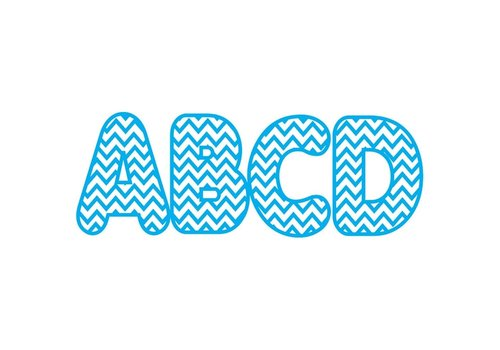 ASHLEY PRODUCTIONS Blue Chevron Magnetic Letters (D) *