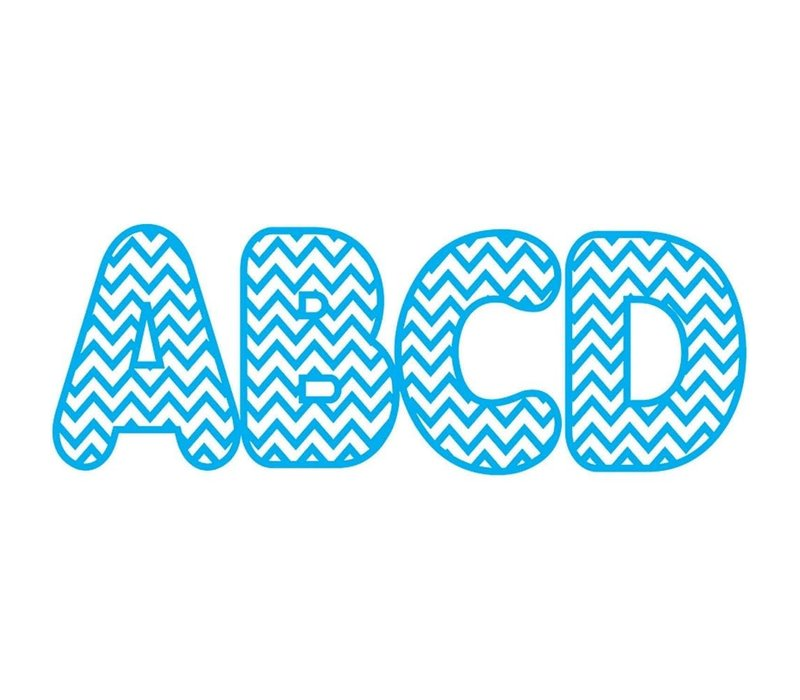 Blue Chevron Magnetic Letters (D) *