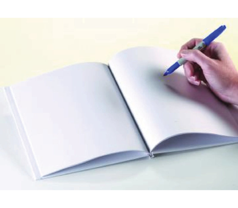 WHITE HARDCOVER BLANK BOOK 11X8-1/2 *