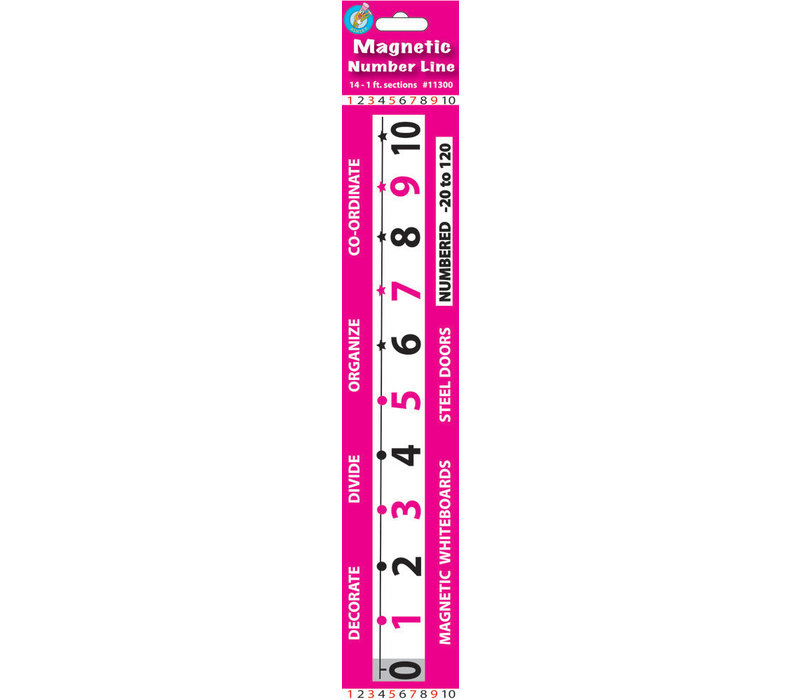 Math Die-Cut Magnets, Number Line -20 to 120