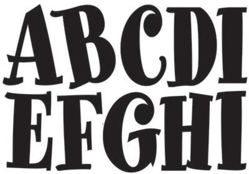 "ASHLEY PRODUCTIONS Black Spumoni Font Magnetic  Letters 2.75""   57 Letters Uppercase"