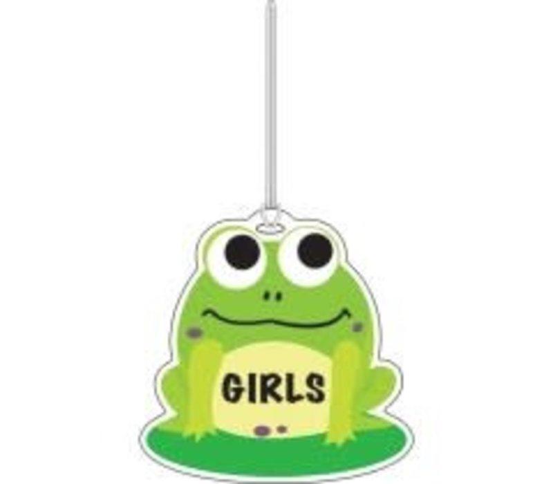 Frog Girls Washroom Pass