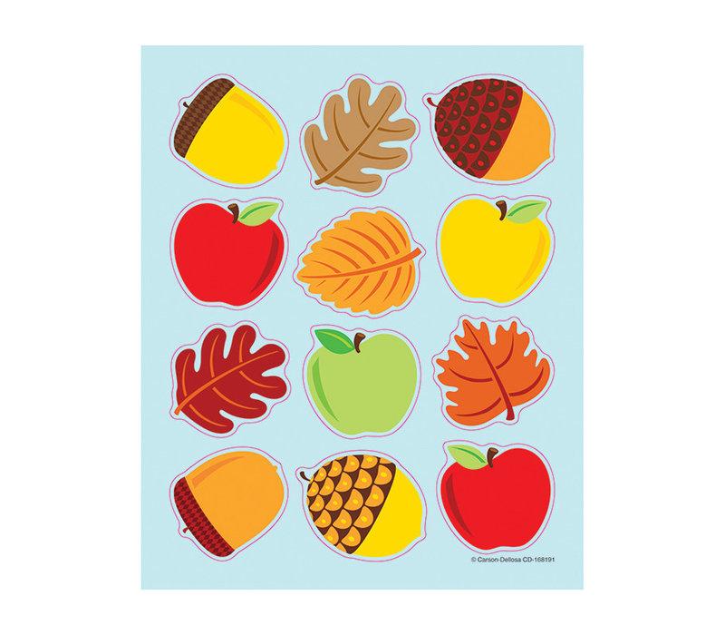 Apples, Acorns & Leaves Shape Stickers