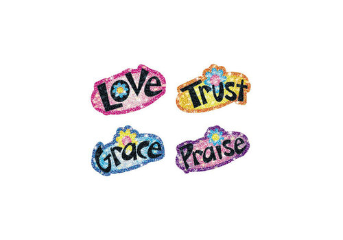 Carson Dellosa Faith Words Dazzle Stickers