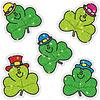 Carson Dellosa Shamrocks Dazzle Stickers