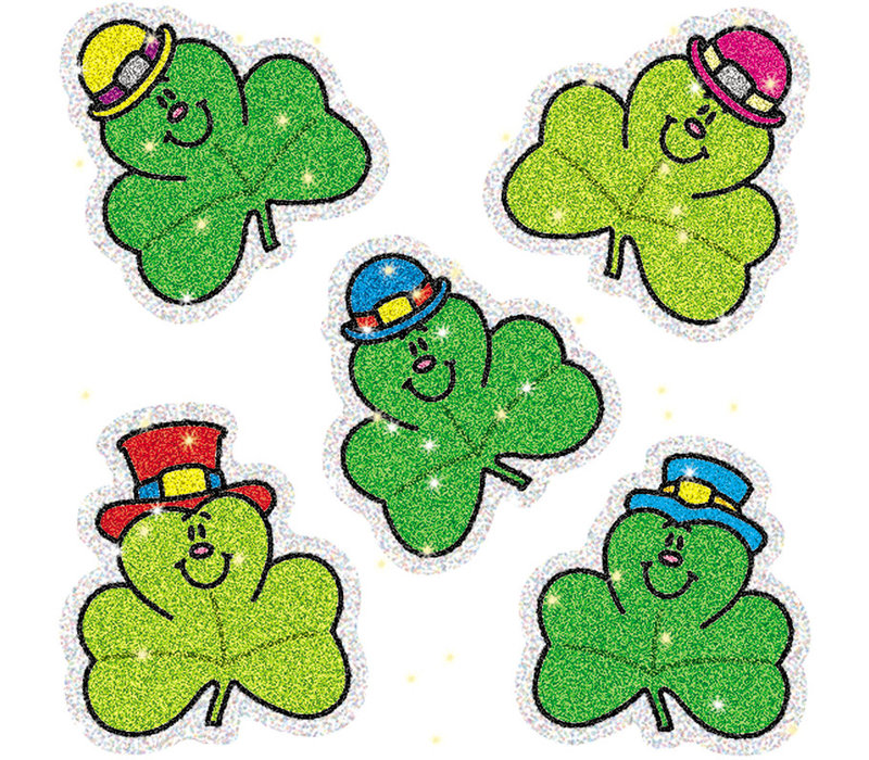 Shamrocks Dazzle Stickers