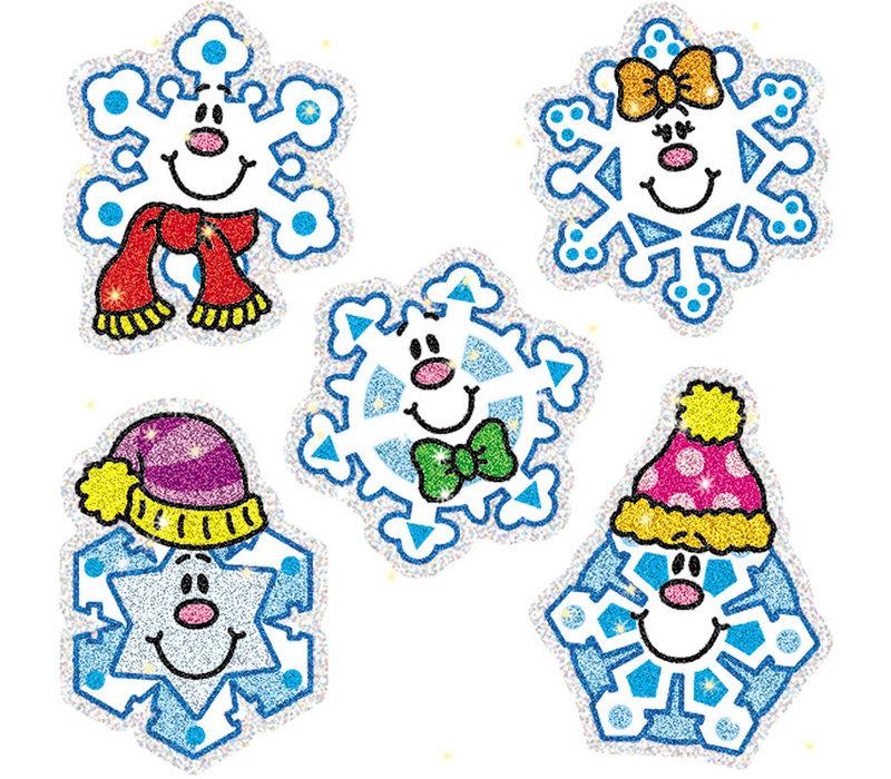 Snowflakes Dazzle Stickers