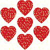 Carson Dellosa Hearts, Red Dazzle Stickers
