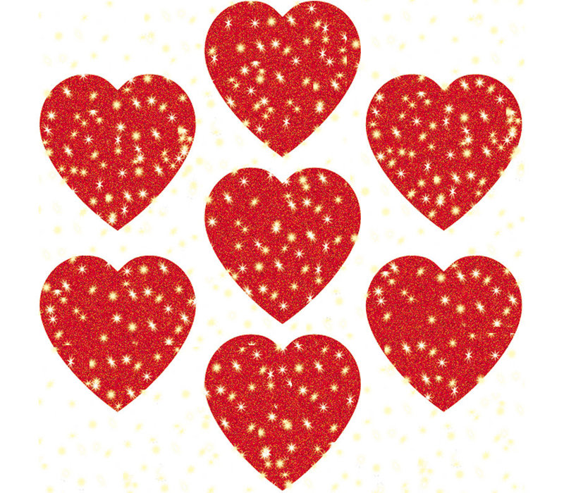 Hearts, Red Dazzle Stickers