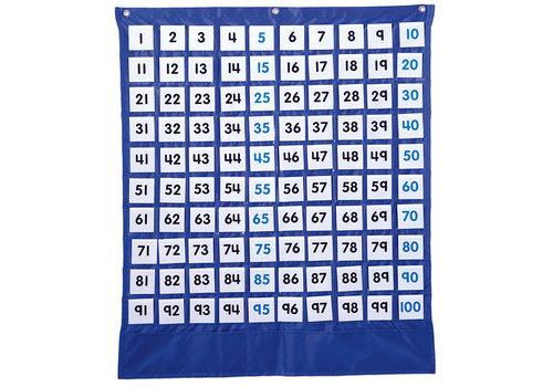 Carson Dellosa Deluxe Hundred Board Pocket Chart *