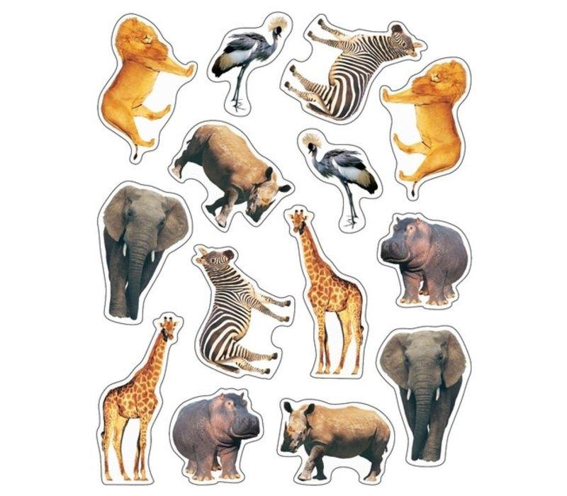 Wild Animals of the Serengeti Shape Stickers *