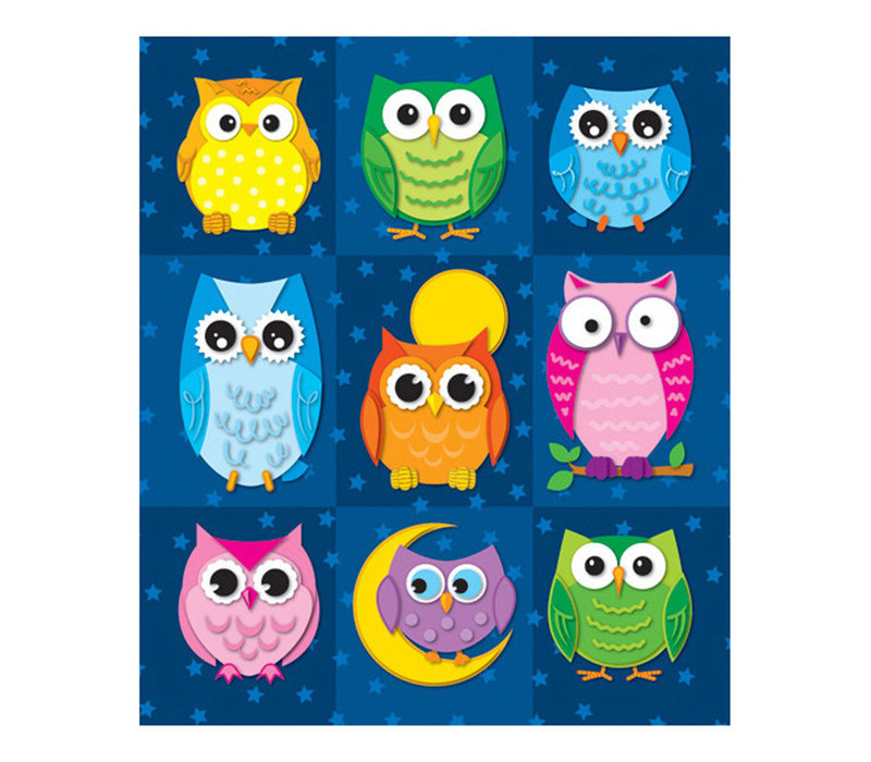 Colorful Owls Prize Pack Stickers *