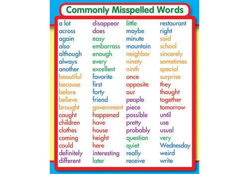 Carson Dellosa Commonly Misspelled Words Sticker Pack