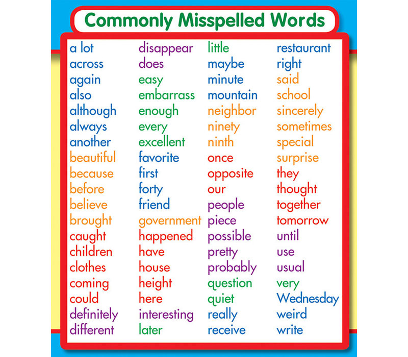 Commonly Misspelled Words Sticker Pack (D) *