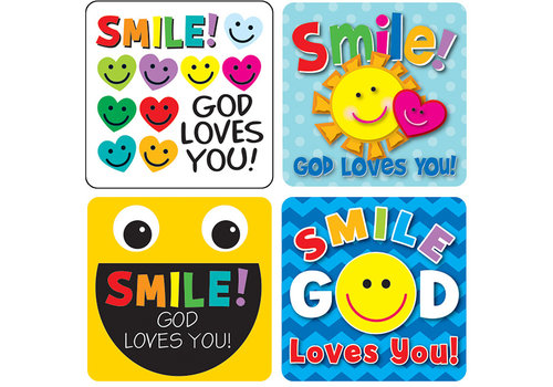 Carson Dellosa Smile, God Loves You! Sticker Pack
