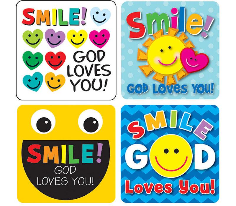 Smile, God Loves You! Sticker Pack