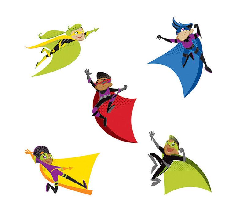 Super Power Super Kids Cut-Outs