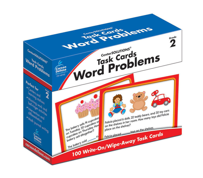 Task Cards: Word Problems, Grade 2