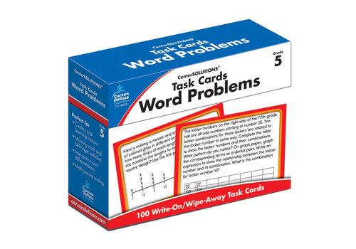 Carson Dellosa Task Cards: Word Problems, Grade 5