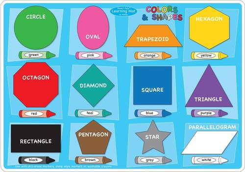 ASHLEY PRODUCTIONS Learning Mat Color & Shapes *