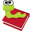 ASHLEY PRODUCTIONS MAGNETIC WHITEBOARD ERASER BOOKWORM