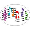 ASHLEY PRODUCTIONS MAGNETIC WHITEBOARD ERASER MUSIC NOTES