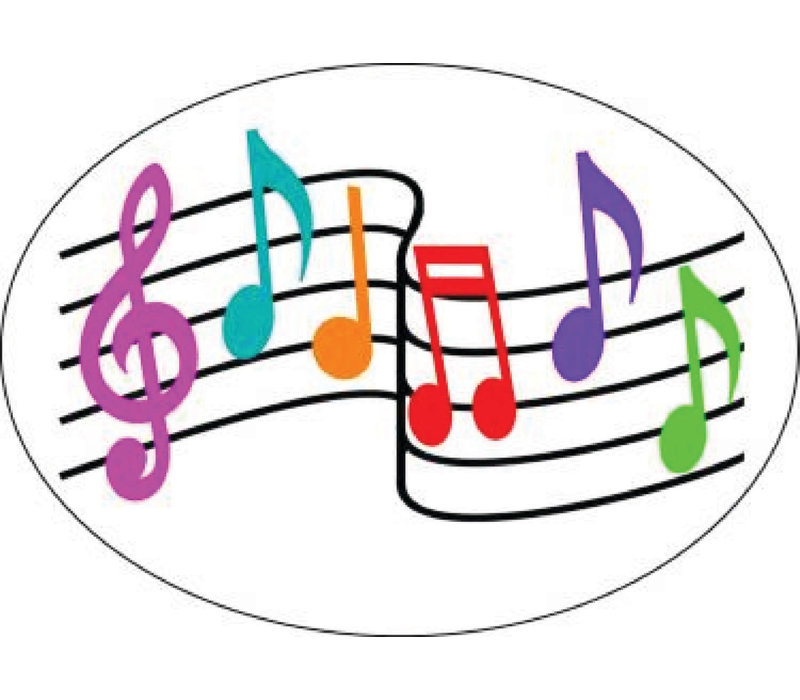 MAGNETIC WHITEBOARD ERASER MUSIC NOTES