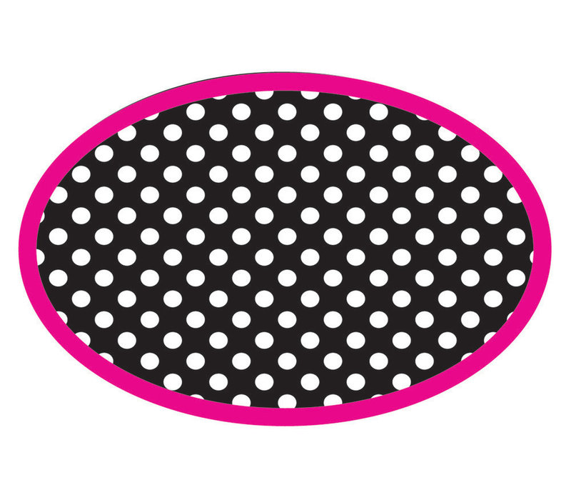 Magnetic Whiteboard Eraser, BW Dots