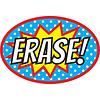 ASHLEY PRODUCTIONS Magnetic Whiteboard Eraser Superheroes ERASE!
