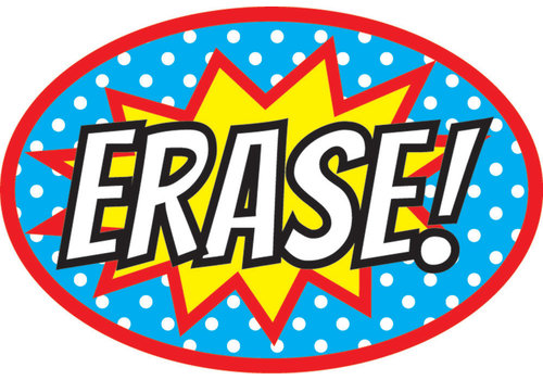 ASHLEY PRODUCTIONS Magnetic Whiteboard Eraser Superheroes ERASE! *