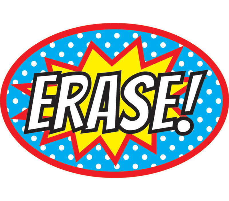 Magnetic Whiteboard Eraser Superheroes ERASE!