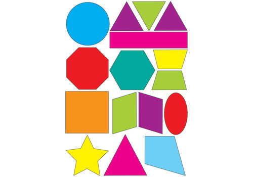 ASHLEY PRODUCTIONS Math Die-Cut Magnets, Shapes *