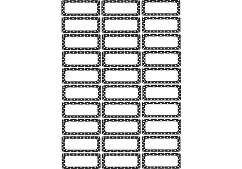ASHLEY PRODUCTIONS Magnetic Small Nameplates, 30 pcs, Black and White Dots *