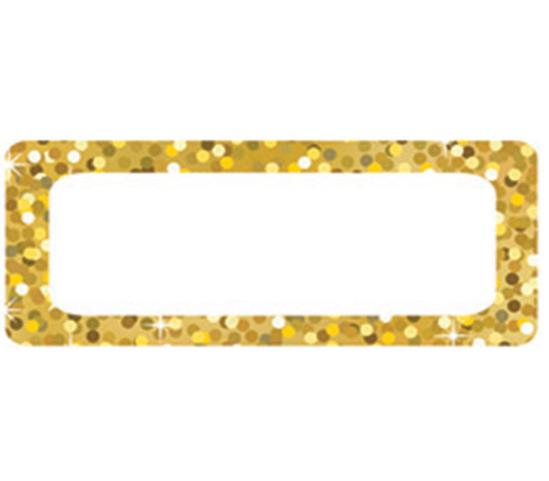 Magnetic Small Nameplates, 30 pcs, Gold Sparkle