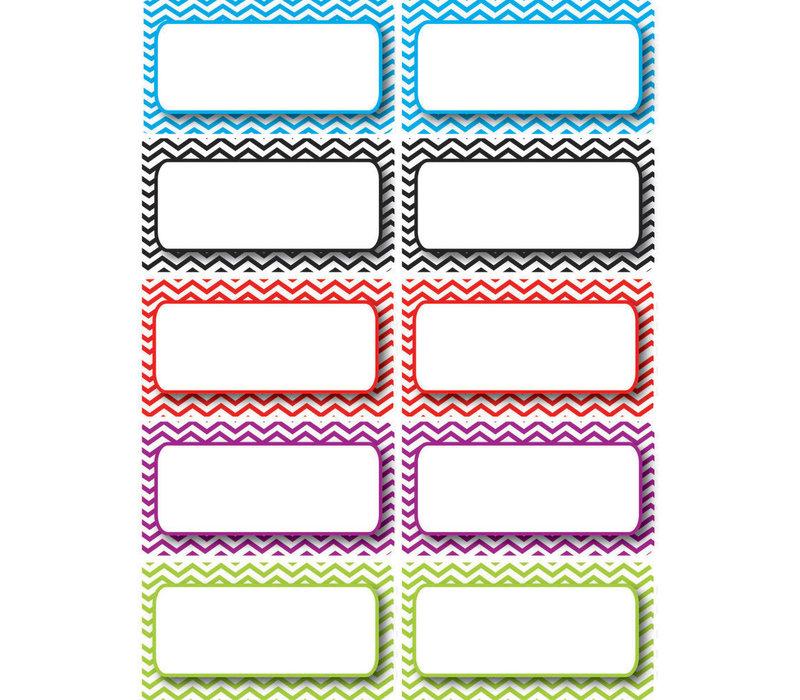 Die-Cut Magnets, Color Chevron Nameplates
